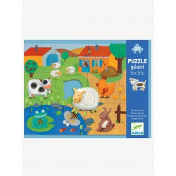 Puzzle táctil animales de la granja