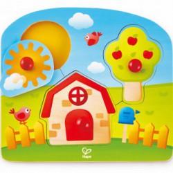 Puzzle encajable casa de campo