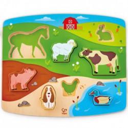 Puzzle encajable animales granja
