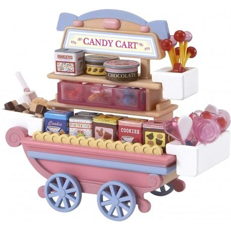 Juego mueble de caramelos con ruedas