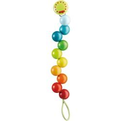 Cadena para el chupete Perlas arco iris