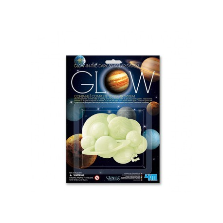 Sistema solar 3d brillante