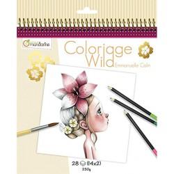 Cuaderno Colorear Wild2 Avenue Mandarine Beige.