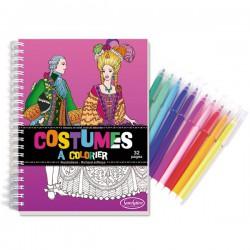 Cuaderno de vestidos para colorear con rotuladores