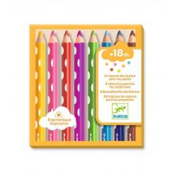 8 lápices de colores para los pequeños