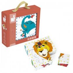 Kubkid 9 cubos-puzle animales del circo