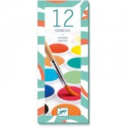 Colores 12 pinturas aguadas clásicas