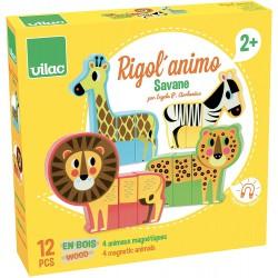 Animales madera Savanna magnéticos