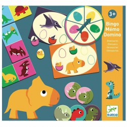 Bingo, Memo, Domino Dinosaurios