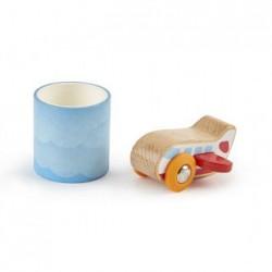 Avión de madera y cinta adhesiva
