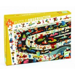 Puzzle Observación Rally de Coches