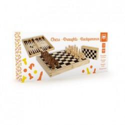 Juego de ajedrez -damas- backgammon