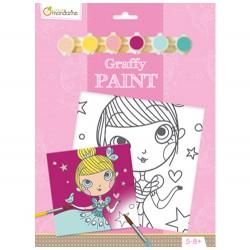 Graffy Paint Princesa 20x20 cm