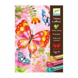 Arenas purpurina mariposas